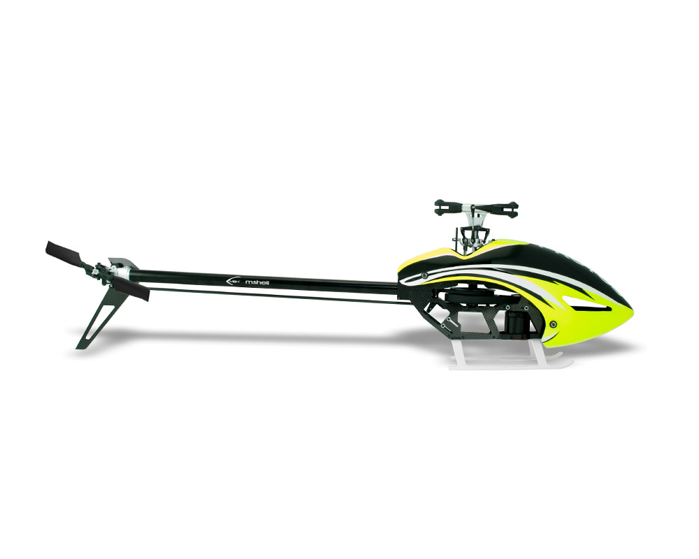 Protos 380 with MiniBrain2 Flybarless System Yellow