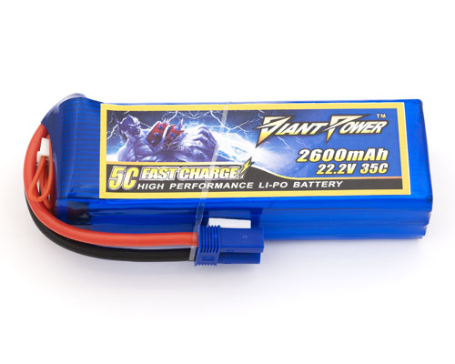 Giant Power 6S 22.2V 2600mAh 35C Lipo Battery