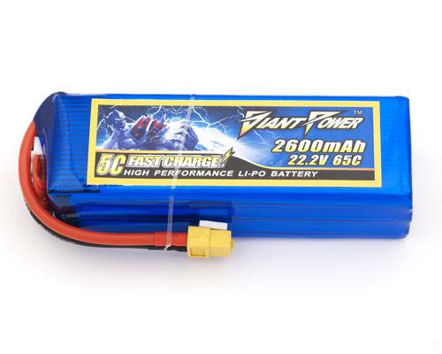 Giant Power 6S 22.2V 2600mAh 65C Dinogy Lipo Battery