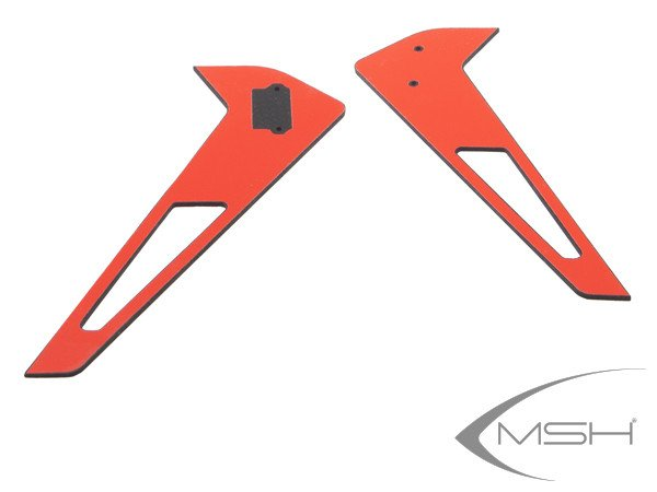 MSH Vertical Tail Fin Sticker Red for Protos 380