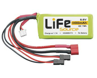 Hobbico LiFe 6.6V 1100 10C Receiver Battery Pack