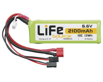 Hobbico LiFe 6.6V 2100 10C Receiver Battery Pack