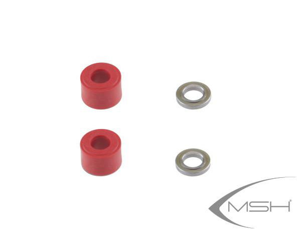 MSH Head Dampers Hard (Red) for Protos 380