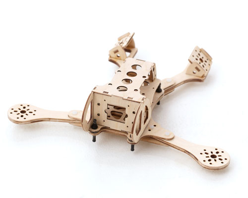 Burnt Wood RC Splinter V V-Tail Quadcopter