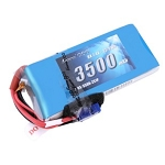 Gens Ace 3500mAh 7.4V 2S1P Lipo Receiver Pack with EC3 plug