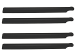Lynx Carbon Plastic Main Blade 190mm, 2 sets Black