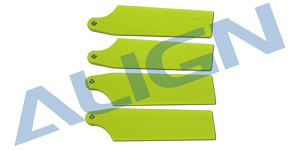 Align 74mm Tail Blade Fluorescent Yellow HQ0743C
