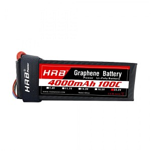 HRB Graphene 6S 4000 22.2V 100C Max Lipo Battery EC5