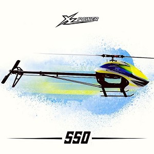 XL Power 550 Kit with Main & Tail Blades, 4020 Motor, & HW 120A ESC XL55K03