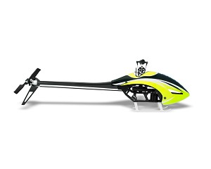 Protos 380 Evoluzione with MiniBrain2 Flybarless System Yellow