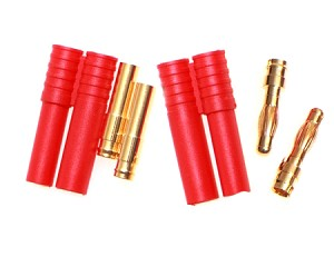 4mm Bullet Connector with Plug - 5 pairs