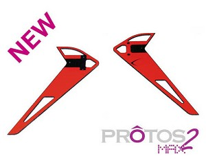 MSH Vertical Fin Sticker Red for Protos Max V2