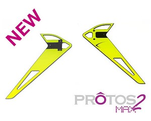 MSH Vertical Fin Sticker Yellow for Protos Max V2