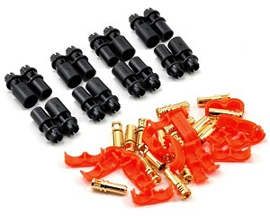 RCPROPLUS Pro-D4 Supra X Battery Connector Set (4 Sets) (12~14AWG)